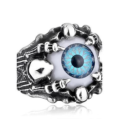 voordelige Herensieraden-Heren Ring Grijs Blauw Roestvast staal Titanium Staal Gepersonaliseerde Modieus Halloween Dagelijks Sieraden