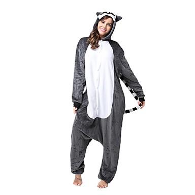 7f65a7aacc9b Adults  Kigurumi Pajamas Monkey Lemur Onesie Pajamas Flannel Toison Brown  Cosplay For Men and Women Animal Sleepwear Cartoon Festival   Holiday  Costumes ...