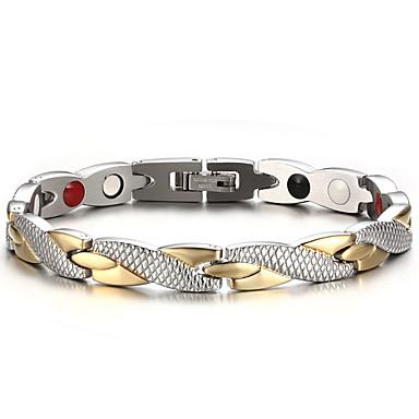 voordelige Herensieraden-Heren Armbanden met ketting en sluiting Bangles Natuur Modieus Equilibrio Titanium Staal Armband sieraden Zilver Voor Lahja Dagelijks