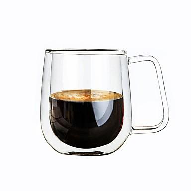 Vidro Caneca Copo de vinho Parede dupla Isolamento térmico 1 Café Leite Copos