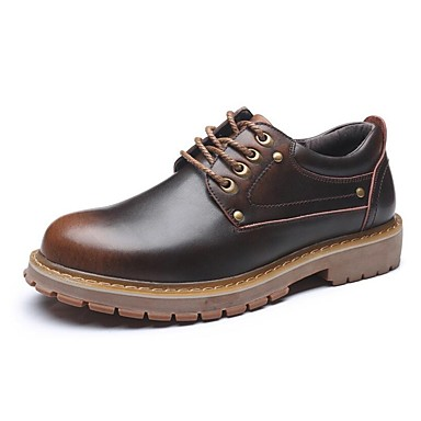 Shoes Men's Shoes Spring Summer Fall Comfort Formal Shoes Lace-up For Casual Black