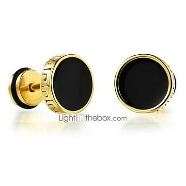 voordelige Dames Sieraden-Heren Oorknopjes Magic Back Earring plat Rock Modieus Titanium Staal oorbellen Sieraden Goud / Zilver Voor Dagelijks Causaal