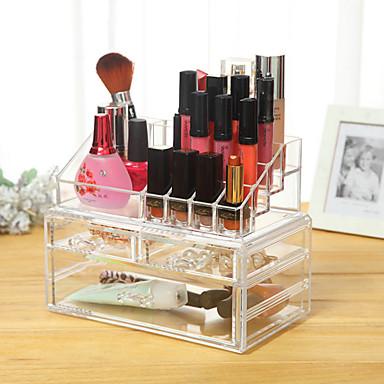 เครื่องมือแต่งหน้า Cosmetics Storage แต่งหน้า พลาสติก Quadrate ทุกวัน ประทิ่น Grooming Supplies