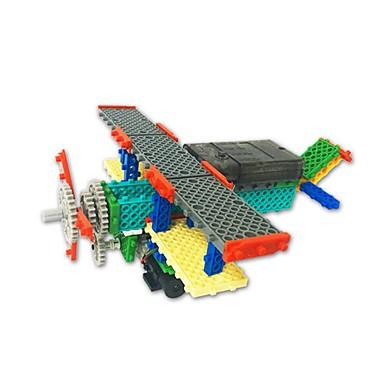 Robot Remote Control Building Kit Building Blocks Plane Toys Plane / Aircraft Simple Remote Control / RC Electric Soft Plastic Children's