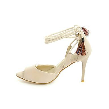 Mujer Zapatos Tul Verano Confort Sandalias Tacón Stiletto Blanco / Negro 2TwYm