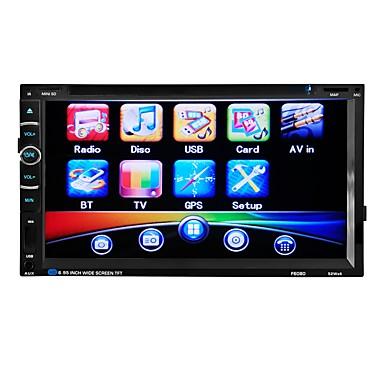 levne Auto Elektronika-6.95 inch 2 Din Další Zabudovaný Bluetooth / Ovládání hlasitosti / Paměťové uskladnění pro Evrensel Podpěra, podpora / 3D rozhraní / Zvuky / Multifunkční / SD / USB podpora / MP4
