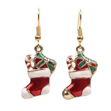 voordelige Herensieraden-Heren Dames Synthetische Diamant Druppel oorbellen meetkundig Modieus oorbellen Sieraden Rood Voor Kerstmis Dagelijks