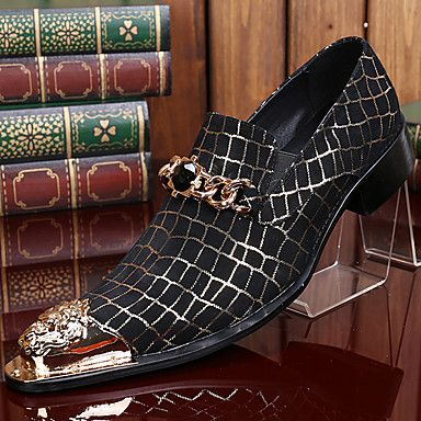 abordables Oxfords Homme-Homme Chaussures Formal Automne / Hiver Rétro Vintage Décontracté Soirée & Evénement Oxfords Cuir Nappa Fait à la main Noir