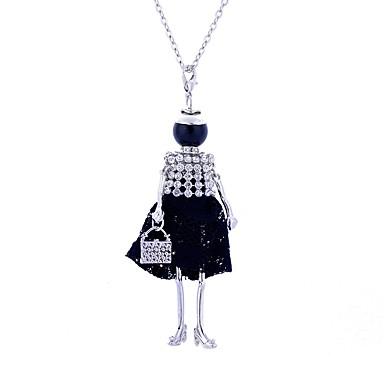 povoljno Modne ogrlice-Žene Izjava Ogrlice Long Princeza dame Luksuz Čipka Legura Crn Crvena Ogrlice Jewelry Za Party Ulica