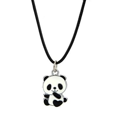 voordelige Herensieraden-Heren Dames Hangertjes ketting Panda Dier Legering Zwart Kettingen Sieraden Voor Feest Club