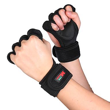 baratos Patinetes, Skates & Patins-Luvas de Actividade e Esportes Exterior Meio Dedo Non-Slip Tapete de Arranhar Elástico Vestir fácil para Ciclismo de Lazer Exercício e