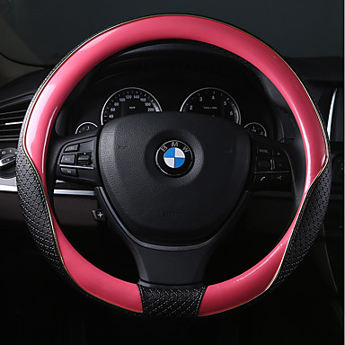 levne Doplňky do interiéru-Potahy na volant Kožené 38 cm Rubínově červená / Světlá růžová / Modrá Pro BMW Všechny modely Všechny roky