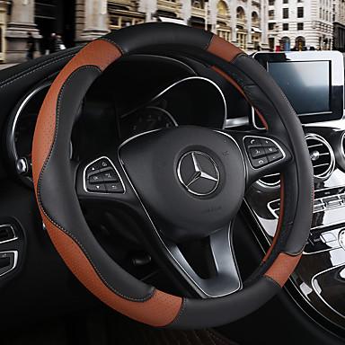 billige Interiørtilbehør til bilen-Rattovertrekk til bilen Lær 38 cm Beige / Svart / Brun / Svart / Rød Til Chevrolet Alle år
