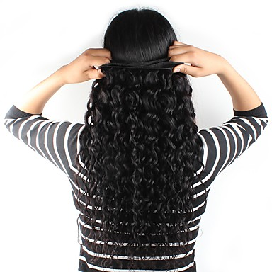 povoljno Ekstenzije od ljudske kose-Brazilska kosa Prirodne kovrče Water Wave Ljudska kosa Ljudske kose plete Isprepliće ljudske kose Proširenja ljudske kose / 8A / Vodeni valovi