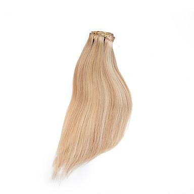 levne Příčesky z pravých vlasů-Flip In Rozšíření lidský vlas Klasický Přírodní vlasy Příčesky z pravých vlasů Halo příčesky Dámské Stredně hnědá