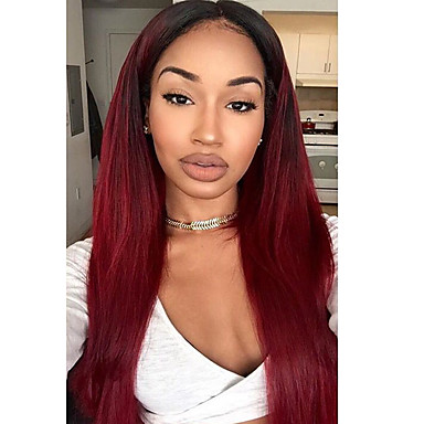 Human Hair Lace Front Wig Brazilian Hair Straight Layered Haircut 130% Density Unprocessed 100% Virgin Black Women Natural Hairline