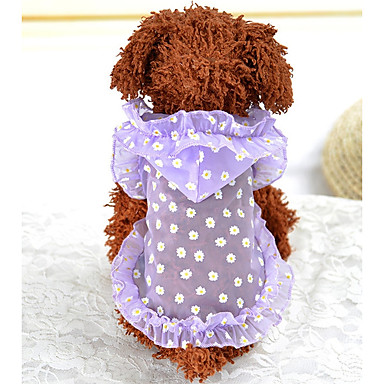 Cachorro Colete Roupas para Cães Roxo Verde Ocasiões Especiais Bebê Cachorro pequeno Fibras Acrilicas Floral / Botânico Casual XS S M L XL