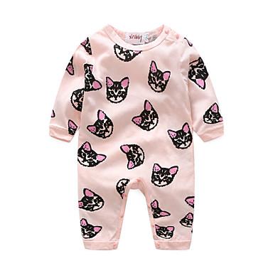 povoljno Odjeća za bebe-Dijete Djevojčice Crtići Životinja Dugih rukava Pamuk Kombinezon Blushing Pink