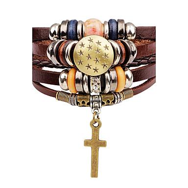 Läder Armband - Läder Kors 875cc212550b8