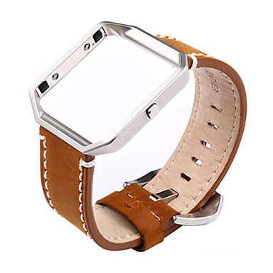สายนาฬิกา สำหรับ Fitbit Blaze Fitbit หัวกลัดแบบคลาสสิก / หัวกลัดแบบโมเดิล โลหะ / หนัง สายห้อยข้อมือ