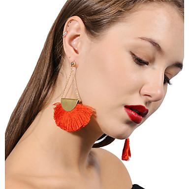 povoljno Modne naušnice-Žene Viseće naušnice Rese dame Naušnice Jewelry Crn / Braon / Crvena Za Party Dnevno