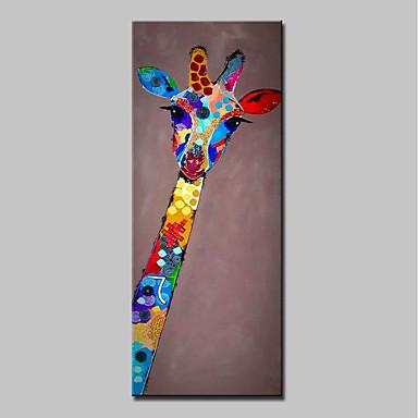 povoljno Ulja na platnu-Hang oslikana uljanim bojama Ručno oslikana - Životinje Sažetak Moderna Uključi Unutarnji okvir / Prošireni platno