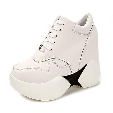 Zapatos blancos de otoño Tacón de cuña formales para mujer GrBHm6Gyoh