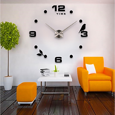 cheap Home & Garden-Casual / Modern Contemporary / Office / Business Stainless Steel / EVA Bird / Fashion Indoor / Outdoor / Indoor AAA Decoration Wall Clock Analog Electroplated / Brushed Steel No