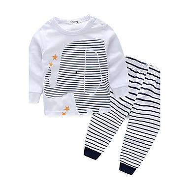 povoljno Odjeća za dječake-Dijete koje je tek prohodalo Dječaci Na prugice Dungi Dugih rukava Pamuk Komplet odjeće Obala