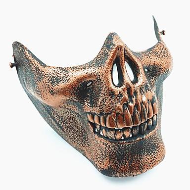 levne Masky-Halloweenské masky Vtípky Halloween Props Masky maškarní Maska lebky Houba na mytí Plastický Vintage retro Novinka Lebka lebka Skeleton Jídlo a nápoje Dospělé Unisex Chlapecké Dívčí