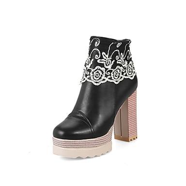 Botas De Invierno Semicuero Otoño Moda Mujer Zapatos wqpHII 21eb3c424448