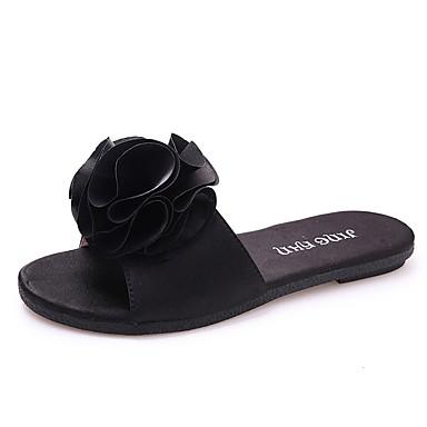 Women's Shoes PU Summer Comfort Slippers & Flip-Flops Flat Heel Open Toe  for Casual Black Green 6224280 2018 – $16.99