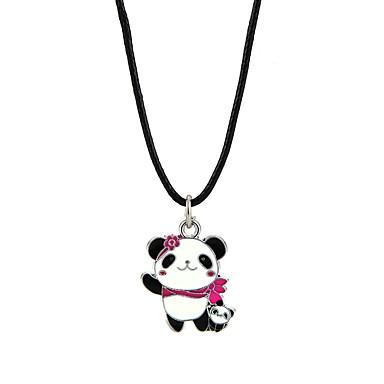 voordelige Herensieraden-Heren Dames Hangertjes ketting Panda Dier Legering Zwart Kettingen Sieraden Voor Verloving Ceremonie