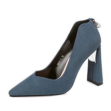 9f636f5d Mujer Zapatos Ante Invierno Otoño Pump Básico Tacones Para Vestido Fiesta y  Noche Negro Rojo Azul Caqui 6221695 2019 – $34.99