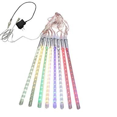 preiswerte LED-Lichter-hkv® 30cm Röhren führten Meteorschauerregenlichter Eiszapfenschneegetränklampe für wasserdichten Weihnachtsadapter