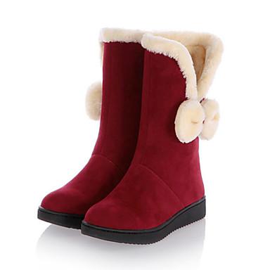 c9a3ba2031 Γυναικεία Παπούτσια Δέρμα Nubuck Χειμώνας Φθινόπωρο Μοντέρνες μπότες Μπότες  Χιονιού Πρωτότυπο Ανατομικό Μπότες Τακούνι Σφήνα Στρογγυλή 6247195 2019 –   26.99