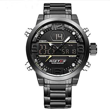 levne Dámské-Pánské Sportovní hodinky Vojenské hodinky Digitální hodinky japonština Křemenný Nerez Černá / Zlatá 30 m Voděodolné Alarm Kalendář Analog - Digitál Přívěšky Luxus Vintage Na běžné nošení Skládaný -