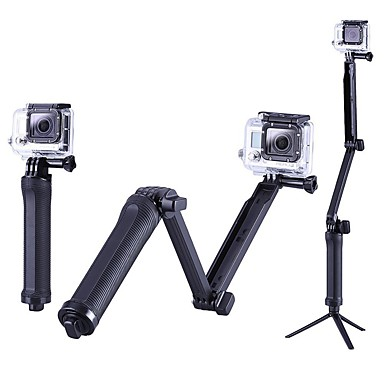 cheap Sports Action Cameras & Accessories  For Gopro-Tripod Outdoor Portable Case 1 pcs For Action Camera Gopro 6 All Gopro Gopro 5 Xiaomi Camera Gopro 4 Surfing Camping / Hiking Ski / Snowboard PC / SJCAM / SJ4000 / Gopro 3 / Gopro 3 / SJCAM