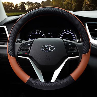 billige Interiørtilbehør til bilen-pu skinn bil ratt deksel antislip beskytter passe 38cm, anti-glide og lukt-fri