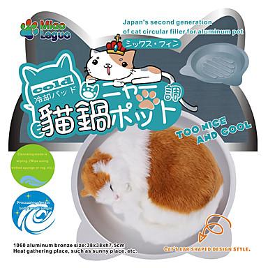 preiswerte Bekleidung & Accessoires für Katzen-Katze Betten Aleación Haustiere Körbe Solide Rutschfest Waschbar Langlebig Silber Für Haustiere