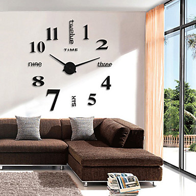 cheap Wall Clocks-Modern Contemporary / Retro Round Novelty / Characters / Holiday Indoor / Outdoor AA Decoration Wall Clock Analog Emboss No