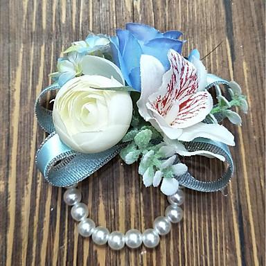 Bouquets de Noiva Buquê de Pulso Casamento Poliéster 3.94 polegada