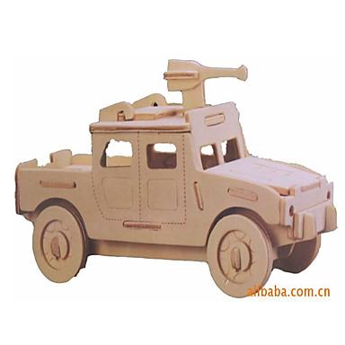 levne 3D puzzle-Autíčka 3D puzzle Automobily Armáda Auto Nový design Speciálně navržené Dřevěný Elegantní & moderní Vojenské auto Dětské Chlapecké Dárek