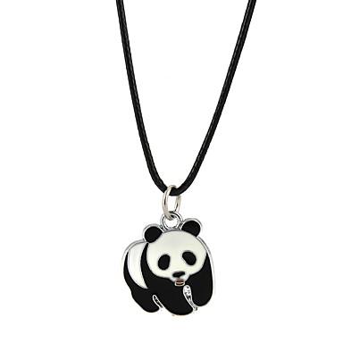 voordelige Herensieraden-Heren Dames Hangertjes ketting Panda Klassiek Legering Zwart Kettingen Sieraden Voor Verloving Causaal