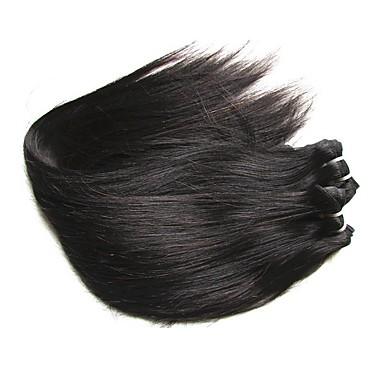 Χωρίς επεξεργασία / Αγνή Τρίχα / Remy Τρίχα ύφανση μαλλιά / Ρεμί Εξτένσιον από Ανθρώπινη Τρίχα Για μαύρες γυναίκες / 8α Ίσιο Βραζιλιάνικη / Πακέτα 0.2kg 1 Χρόνος / 12 μήνες Καθημερινή Ένδυση