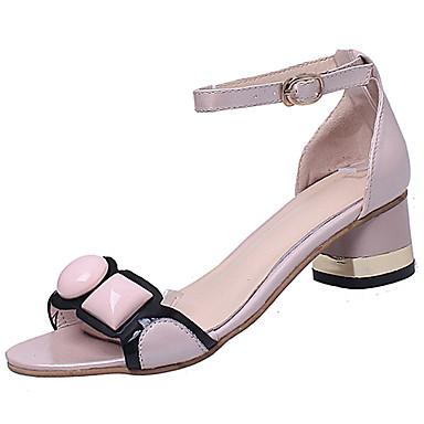 Mujer Zapatos Punto / Tela Elástica Verano Talón Descubierto Sandalias Tacón Plano Blanco / Negro / Rosa V9S5mmRj