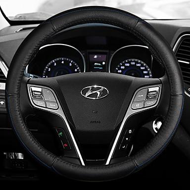 Καλύμματα για το τιμόνι αυτοκινήτου Δερμάτινο 38 εκ Λευκό / Θαλασσί / Ρουμπίνι Για Hyundai IX25 Όλες οι χρονιές