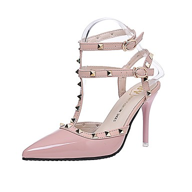 Women's Shoes PU Summer Light Soles Sandals Stiletto Heel Pointed Toe Rivet  for Casual Dress White Black Red Almond 6214310 2018 – $16.99