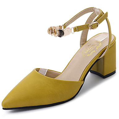3f3bf339b87c Women s Shoes PU(Polyurethane) Summer Comfort Sandals Chunky Heel Pointed  Toe Sequin Beige   Yellow   Block Heel Sandals 6241600 2019 –  14.99