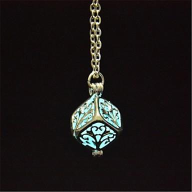 levne Dámské šperky-Dámské Světelný kámen Náhrdelníky s přívěšky dámy Přizpůsobeno Svítící Světelný kámen Oranžová Světle modrá Světle zelená Náhrdelníky Šperky Pro Halloween Klub